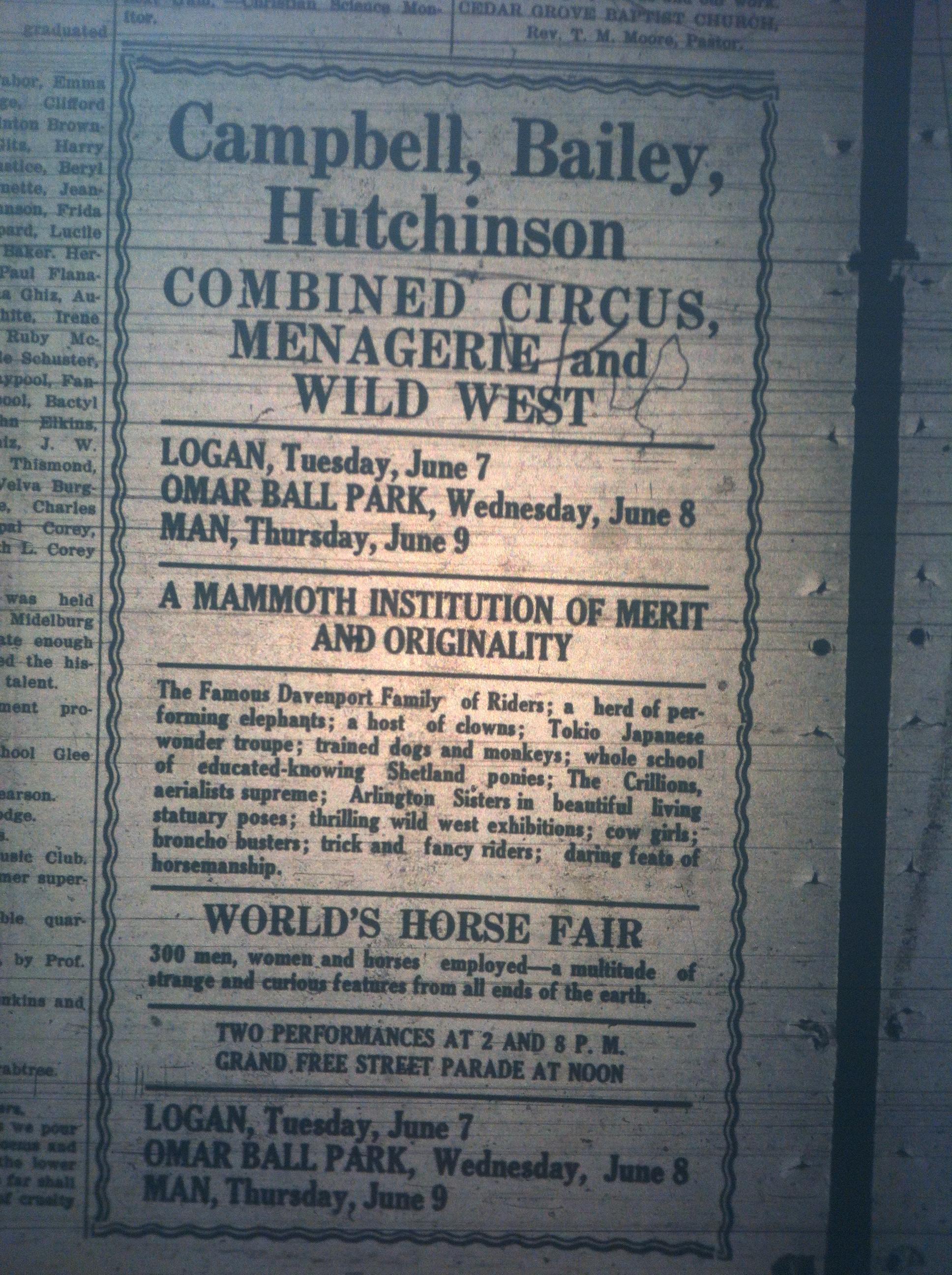 Campbell Bailey Hutchinson Circus Ad LB 05.27.1921.JPG