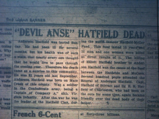 Devil Anse Hatfield Dead LB 01.14.1921 2