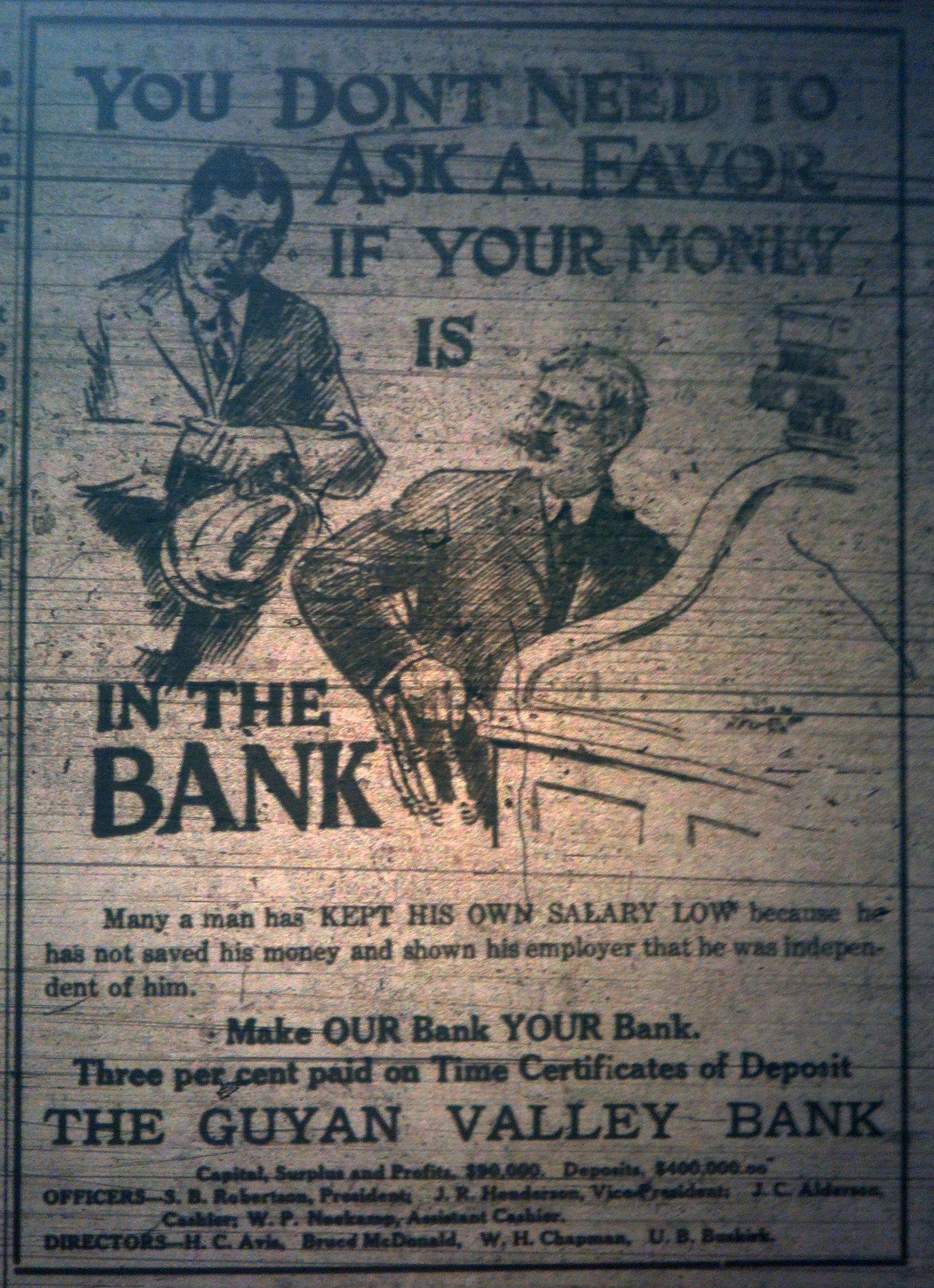 Guyan Valley Bank Ad LD 01.19.1911 1