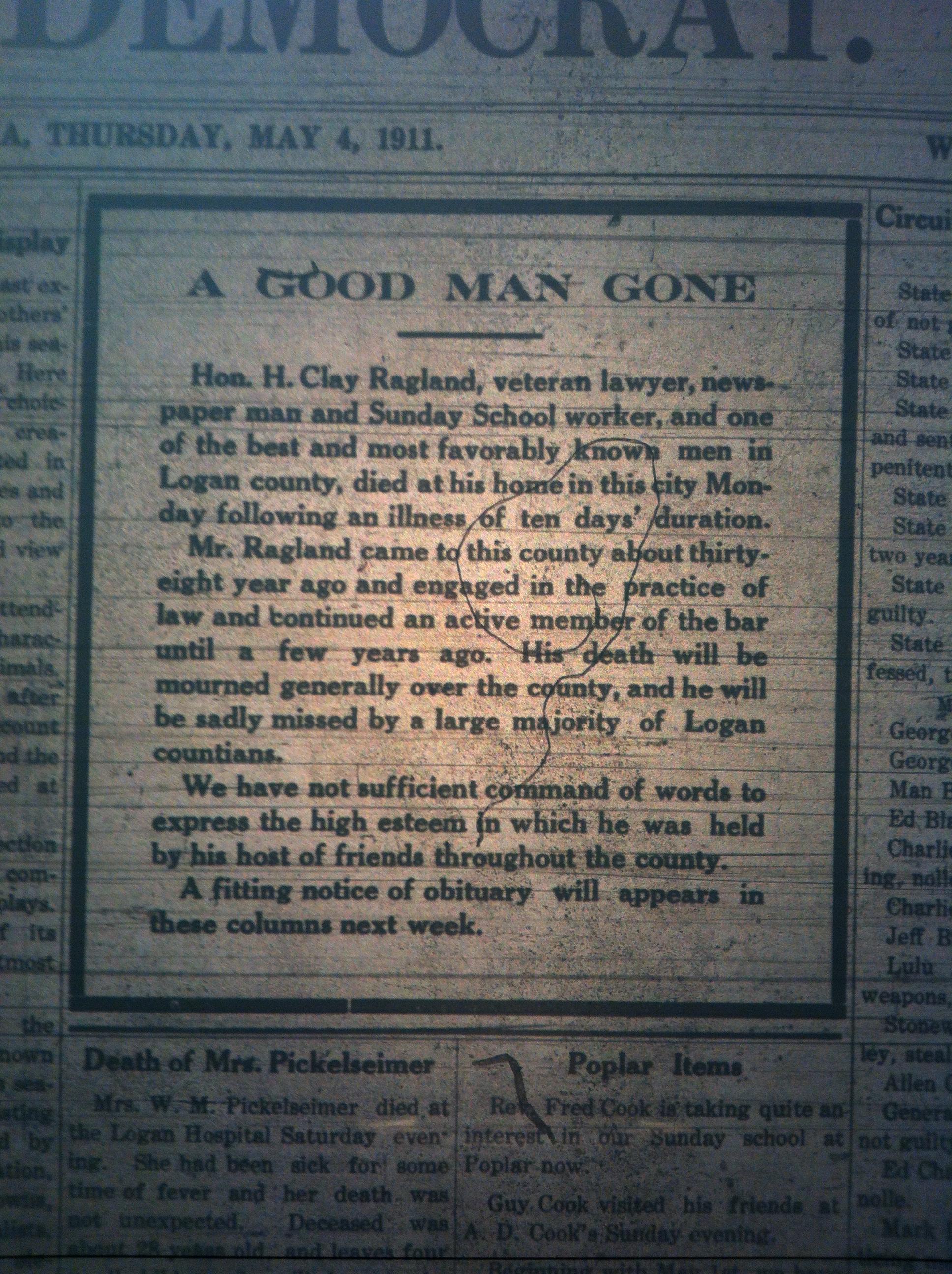 Henry Clay Ragland Dead LD 05.04.1911.JPG