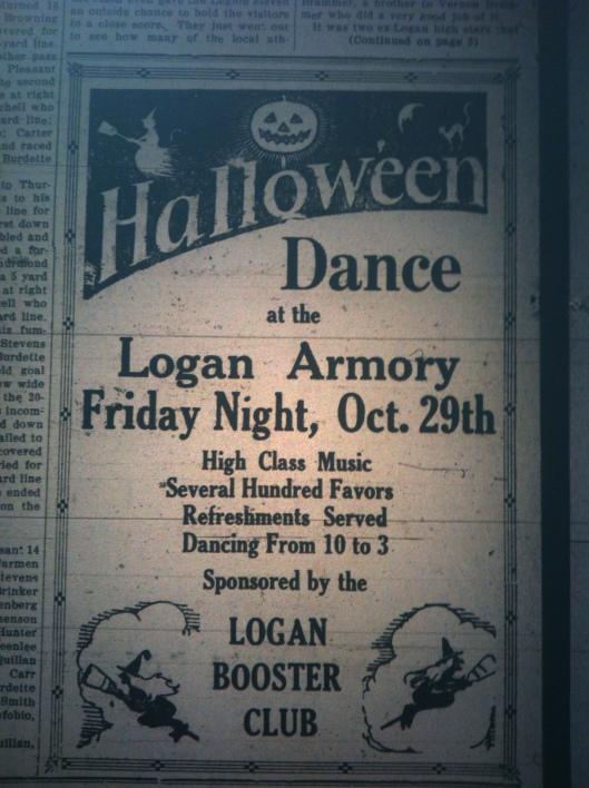 Halloween Dance at Armory LB 10.19.1926