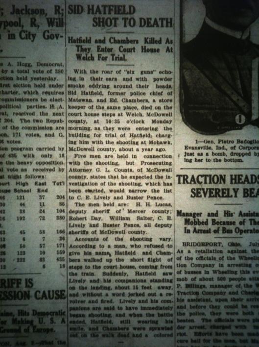 Sid Hatfield Shot to Death LB 08.05.1921 4