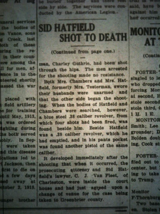 Sid Hatfield Shot to Death LB 08.05.1921 5