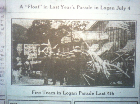 Fire Team in Logan Parade LB 05.23.1913