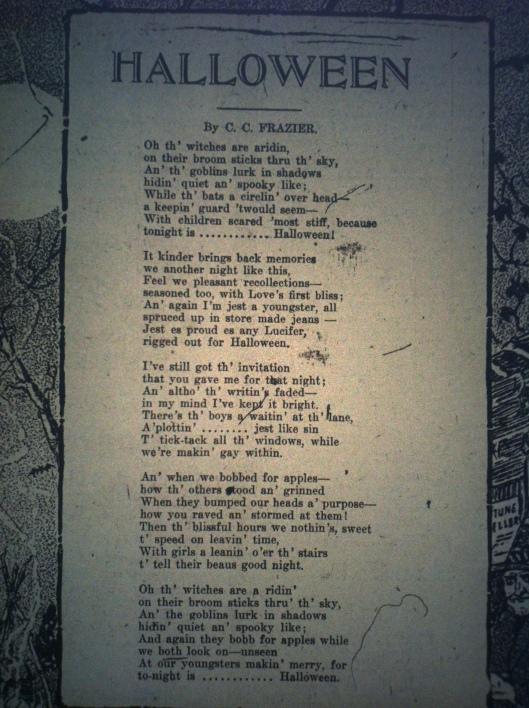 Halloween Poem HA 10.31.1916 1