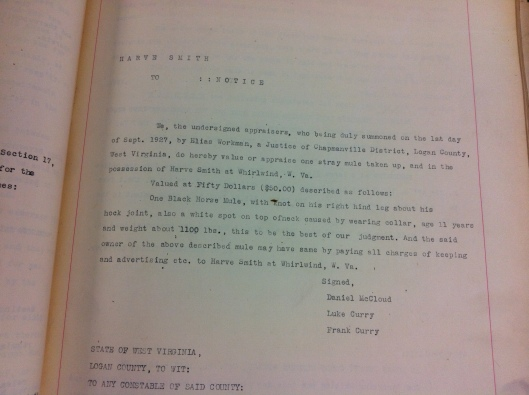 Harve Smith Record 1927 1