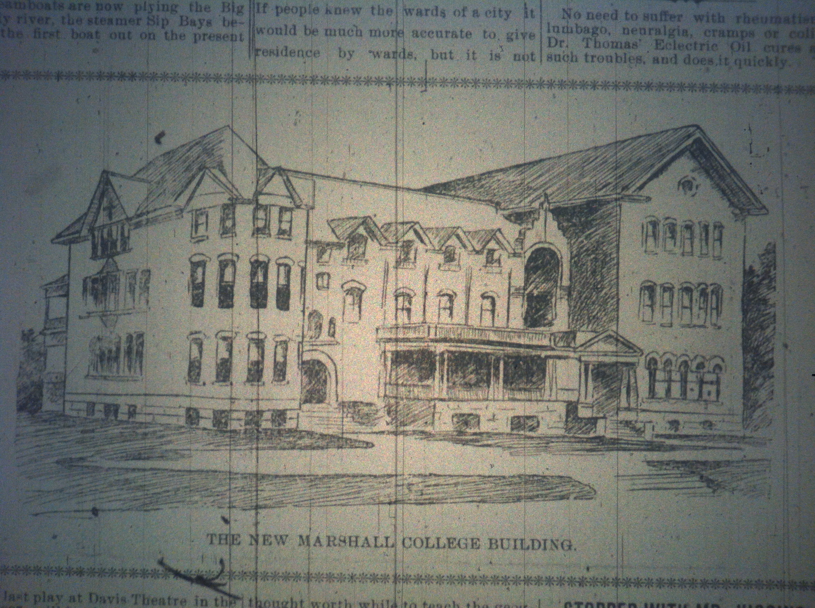 New Marshall College Building HuA 12.23.1897