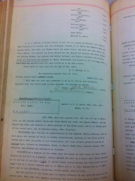 Giles Davis to Albert Davis 1912 2