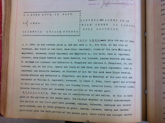 J.I. Kuhn to Climenia Lucas DB53 p288 LiC 1