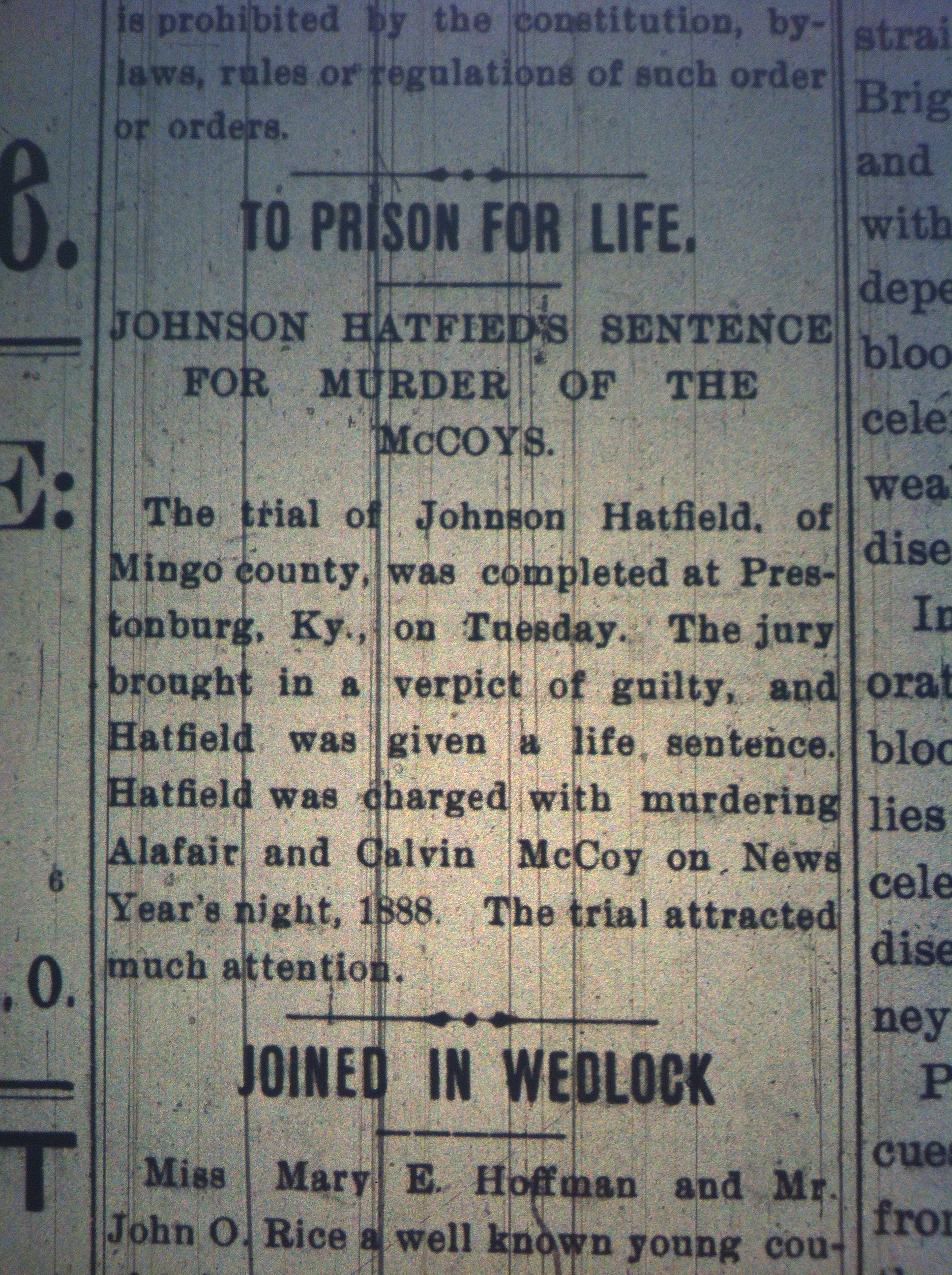 Johnson Hatfield Gets Life HuA 01.21.1899.JPG