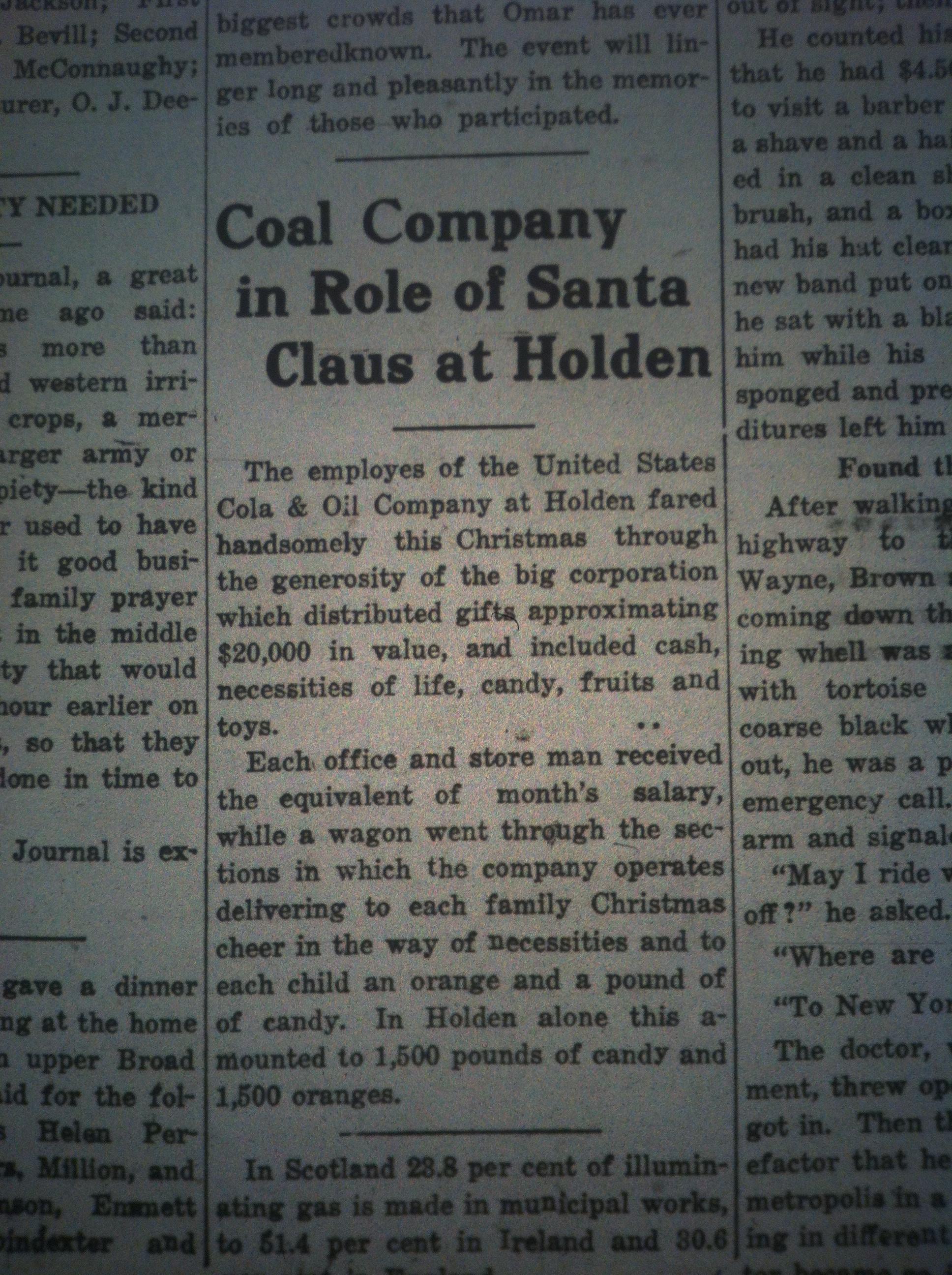 Coal Company Plays Role of Santa LD 12.28.1916.JPG