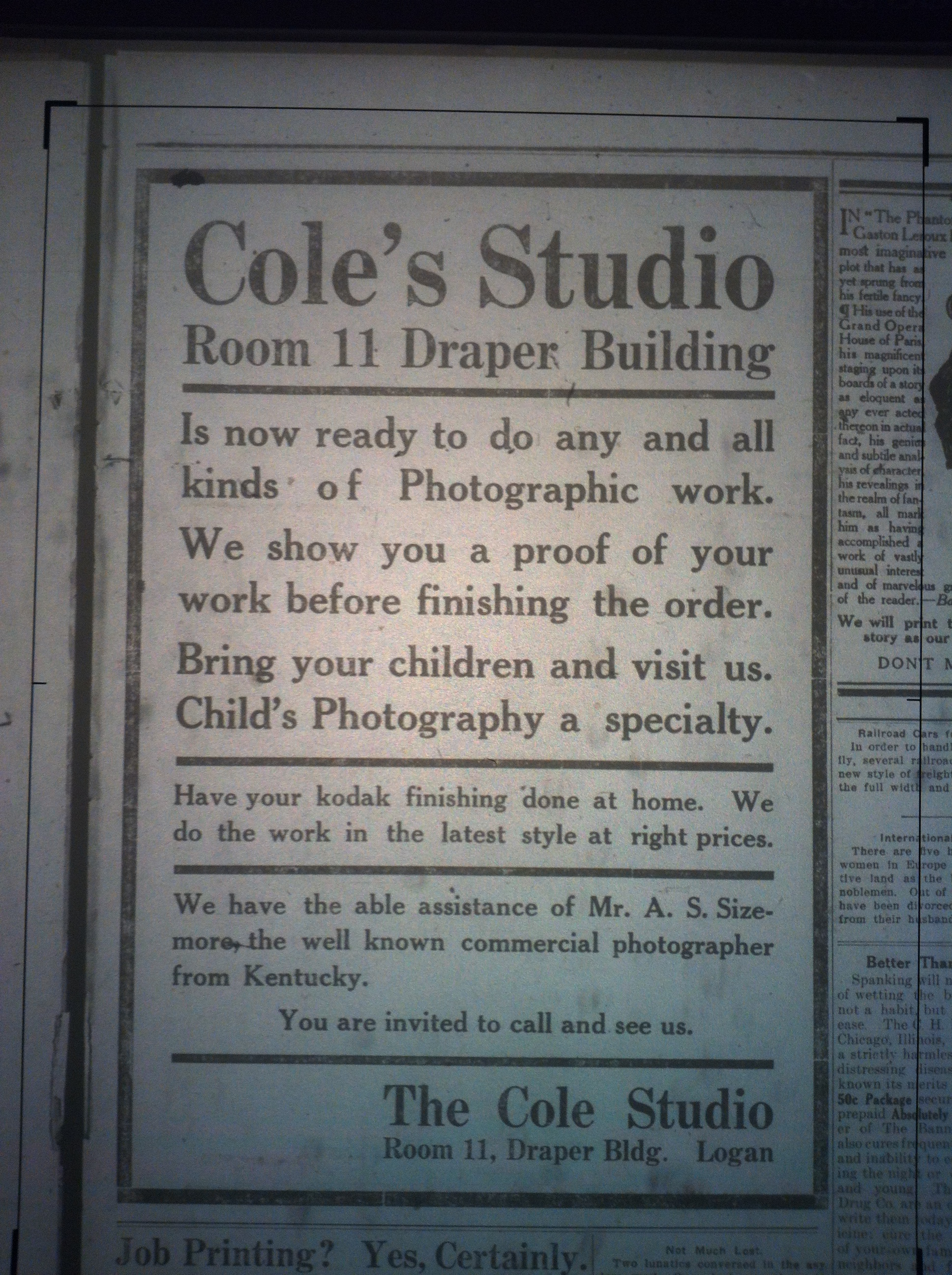 Cole's Photo Studio LB 02.28.1913.JPG