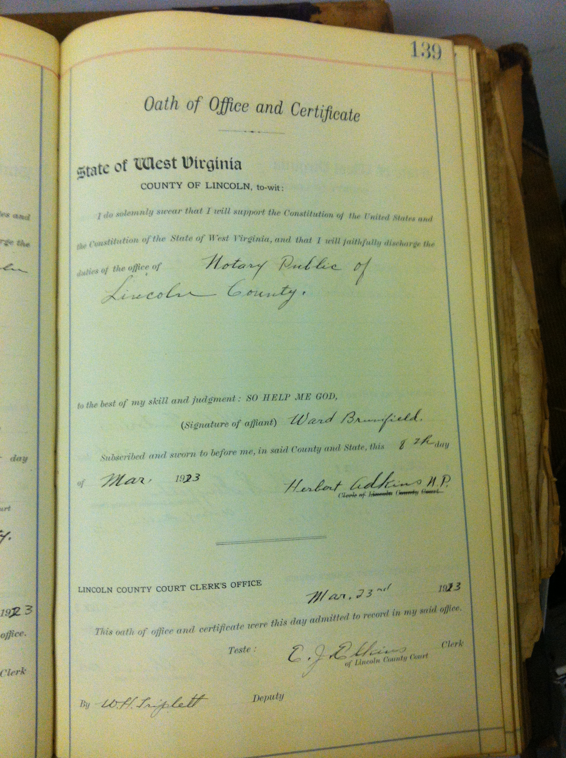 Record Oaths and Certificates 3