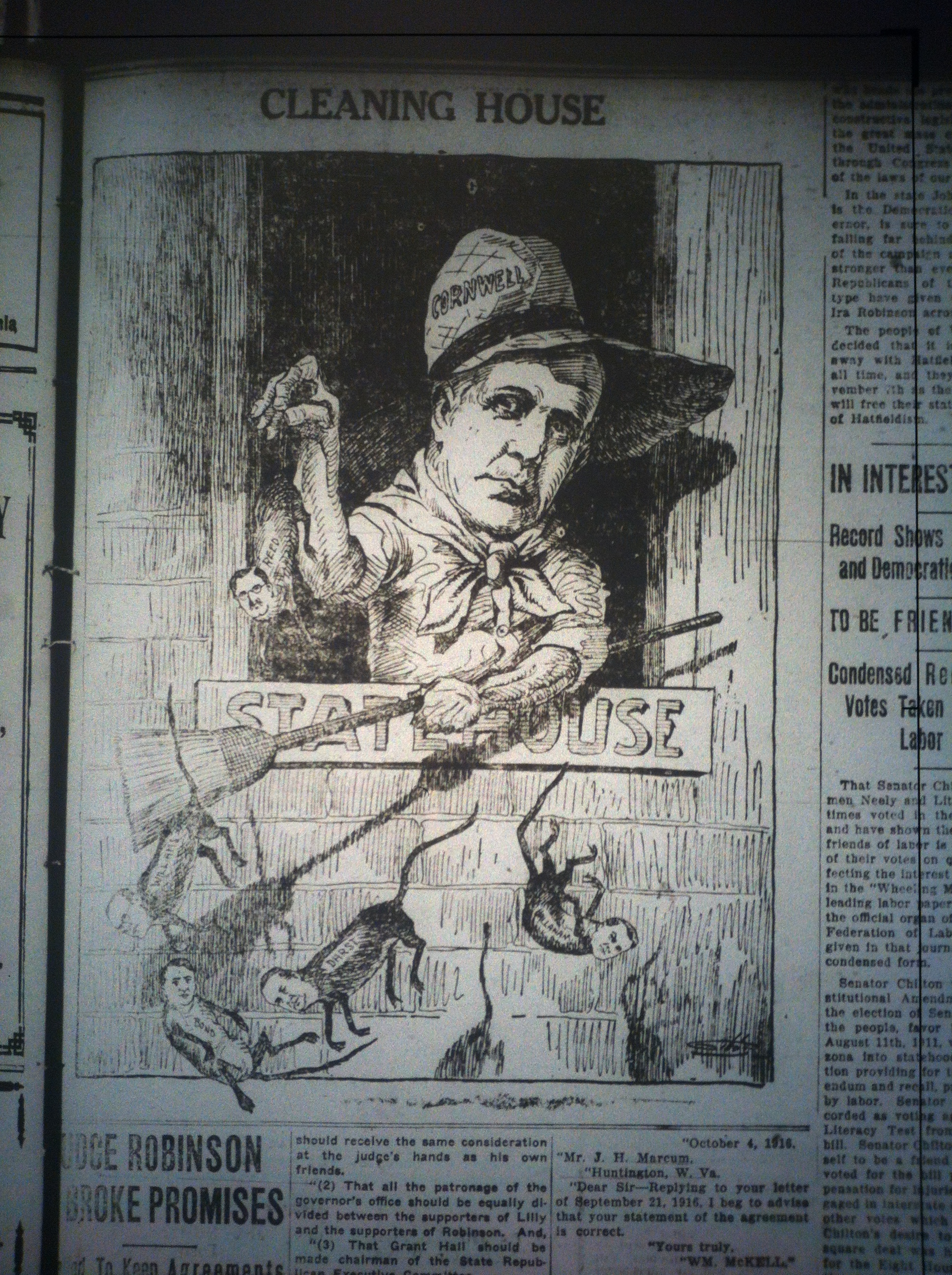 Cornwell Political Cartoon LD 10.26.1916