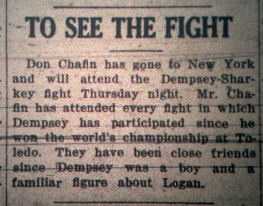 Don Chafin to Watch Fight in NY LB 07.19.1927.JPG