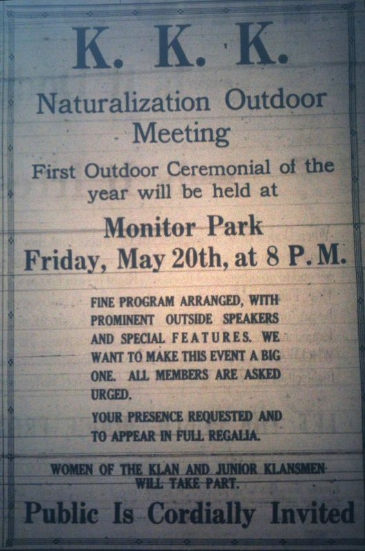 KKK Meeting at Monitor Park LB 05.20.1927