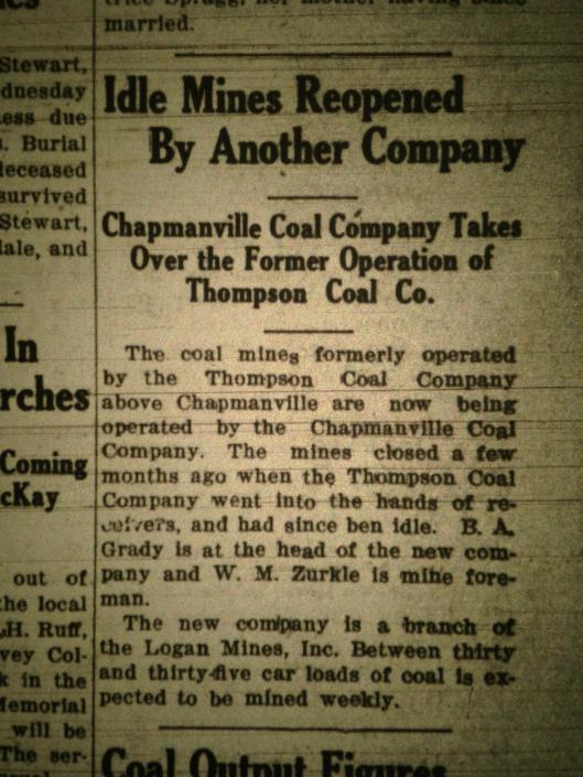 Chapmanville Coal Company LB 08.26.1927