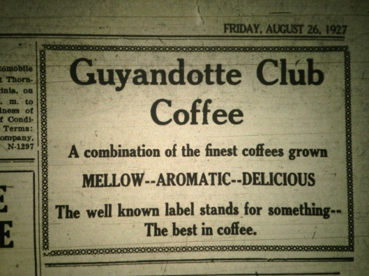Guyandotte Club Coffee Ad LB 08.26.1927.JPG