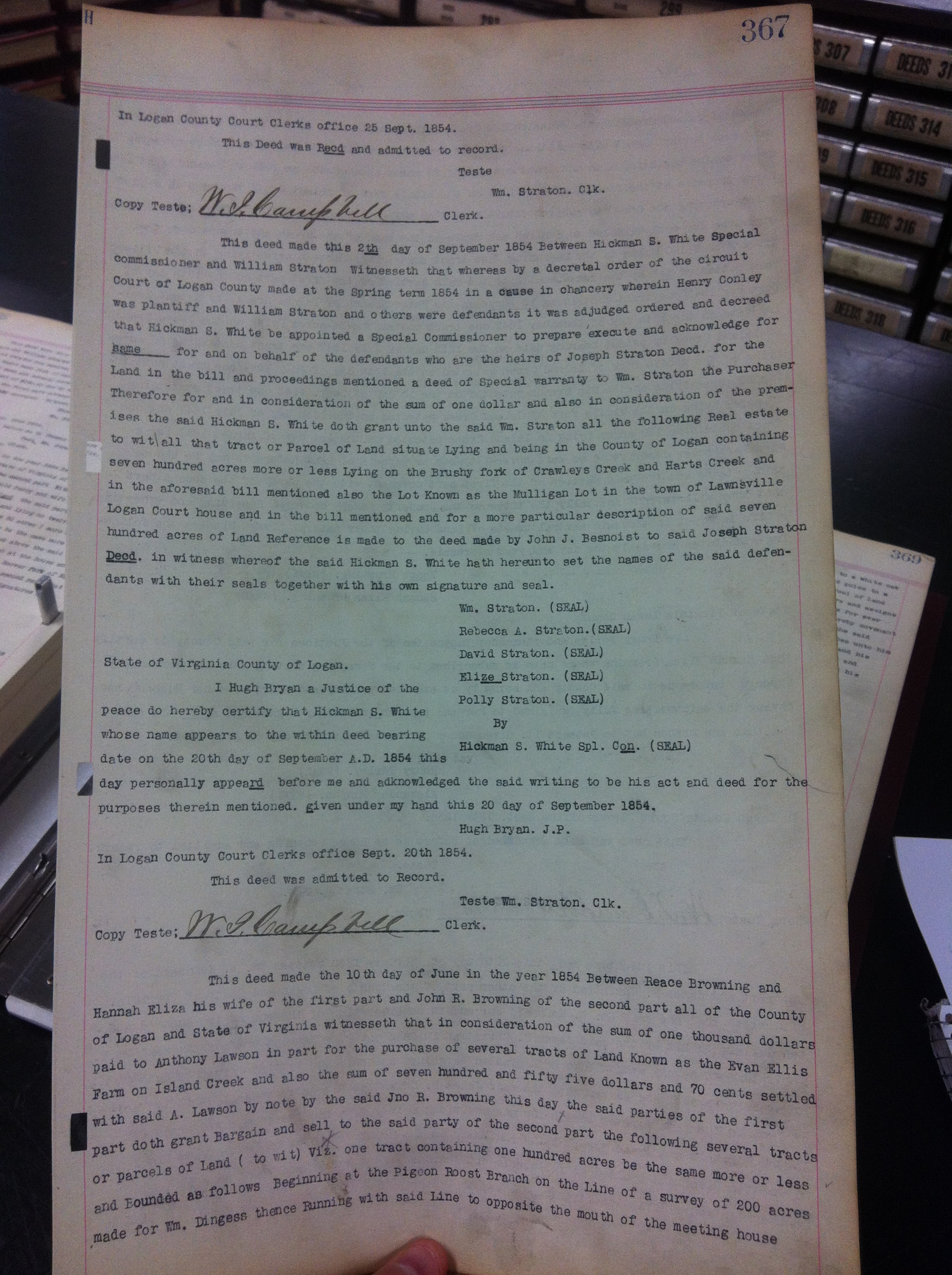 Henry Conley and William Straton Deed 1