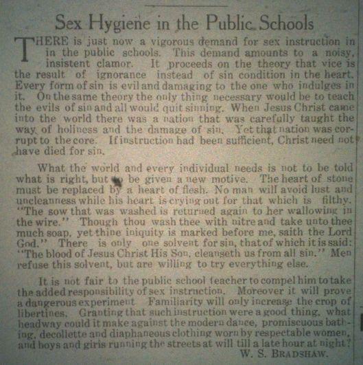 Sex Hygiene in Public Schools LB 08.14.1914