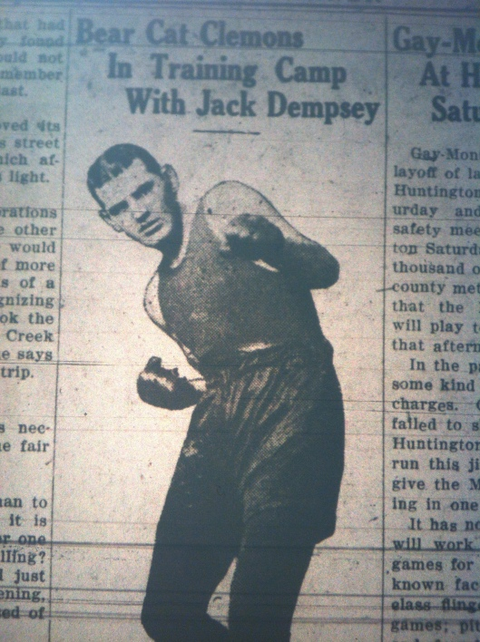 Bear Cat Clemons Training with Jack Dempsey LB 08.20.1926 3