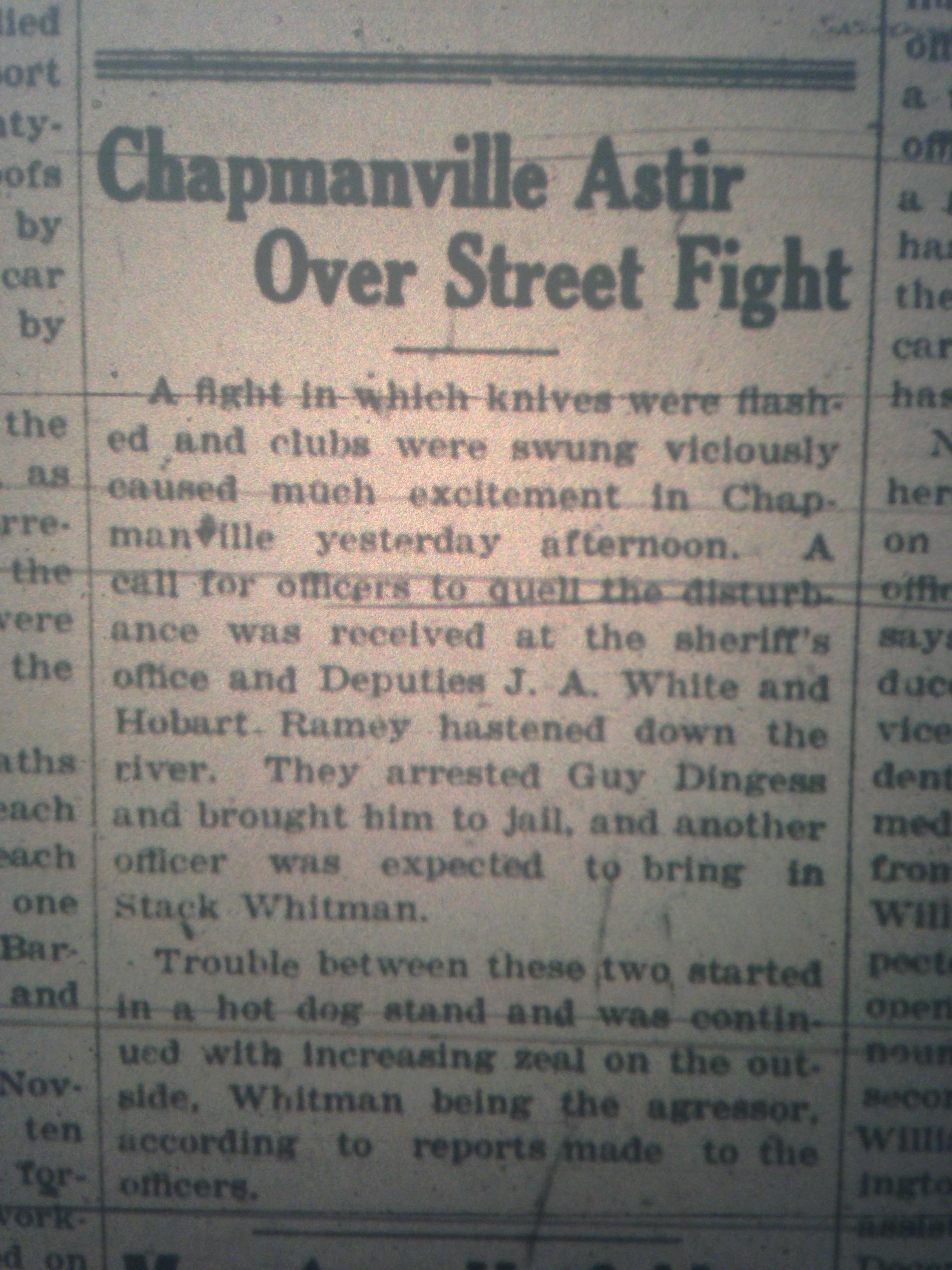 Chapmanville Street Fight LB 12.13.1927.JPG