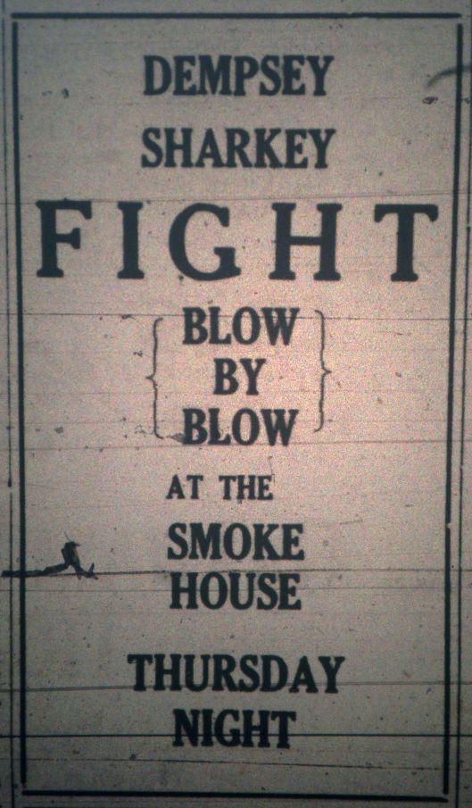 Dempsey-Sharkey Fight at the Smoke House Ad LB 07.19.1927