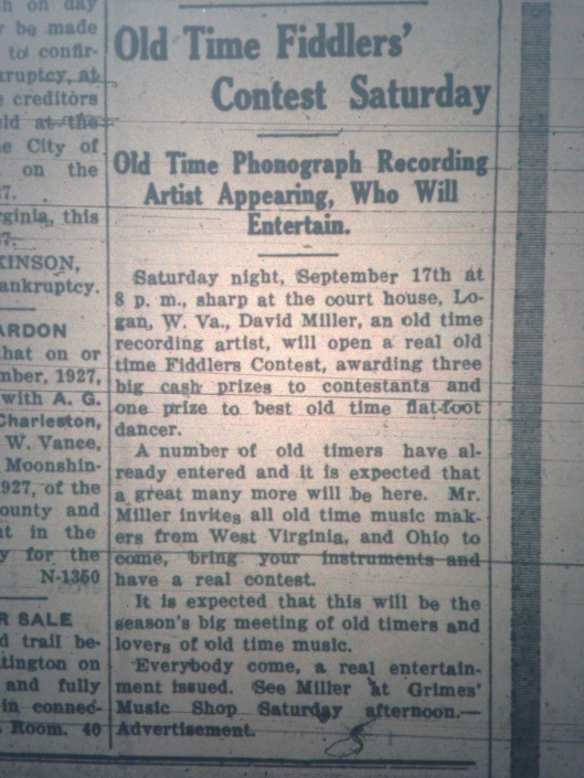 Old-Time Fiddlers' Contest at Logan Courthouse LB 09.16.1927 1