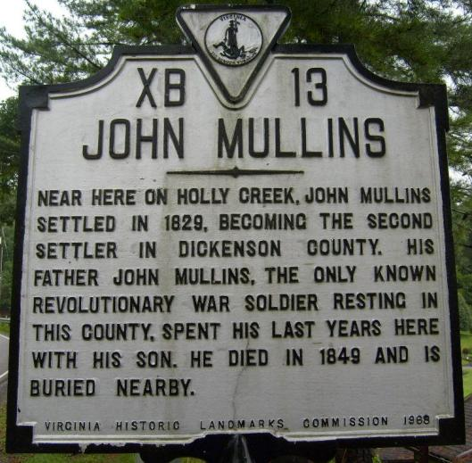 Holly Creek John Mullins Historic Marker