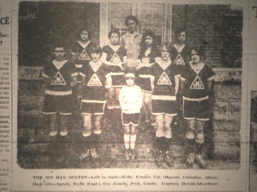 Man HS Girls Basketball Photo LB 03.06.1928 2