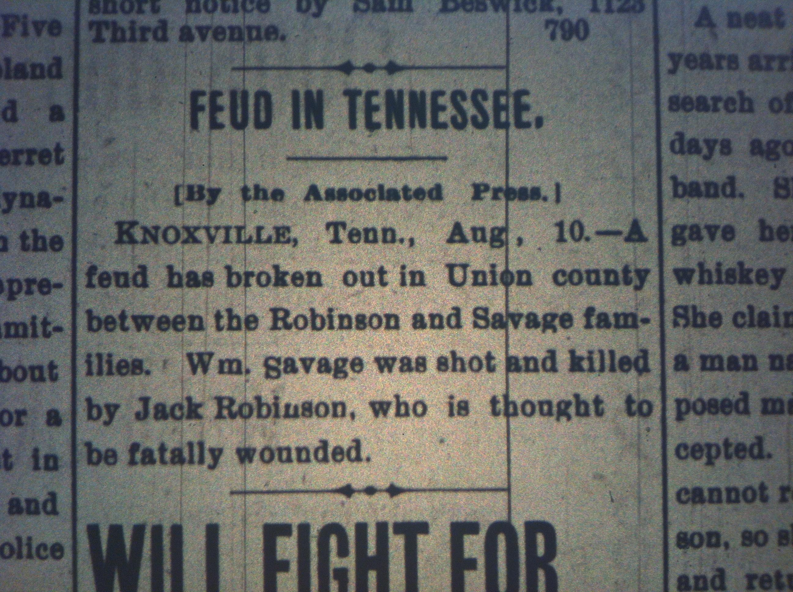 Robinson-Savage Feud in TN HA 08.10.1899.JPG