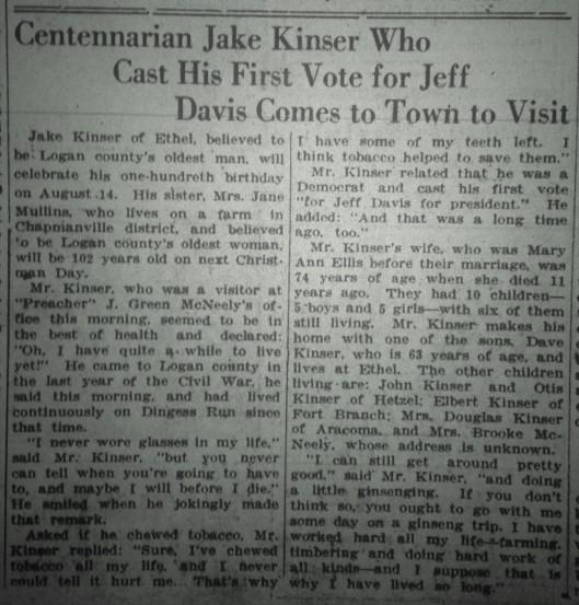 Jake Kinser Visits LB 06.20.1936 1
