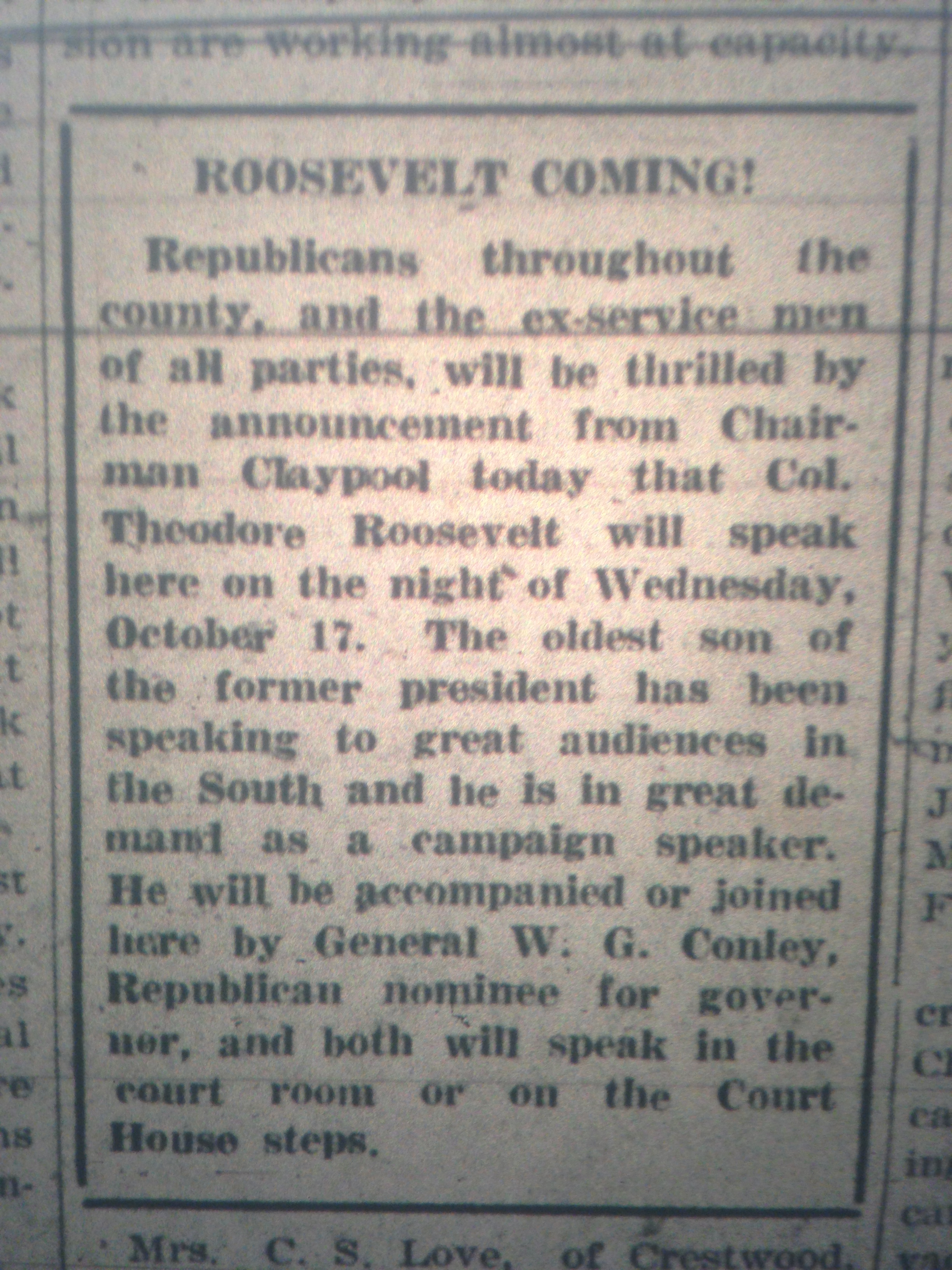 Tedd Roosevelt Jr. is Coming LB 10.05.1928.JPG