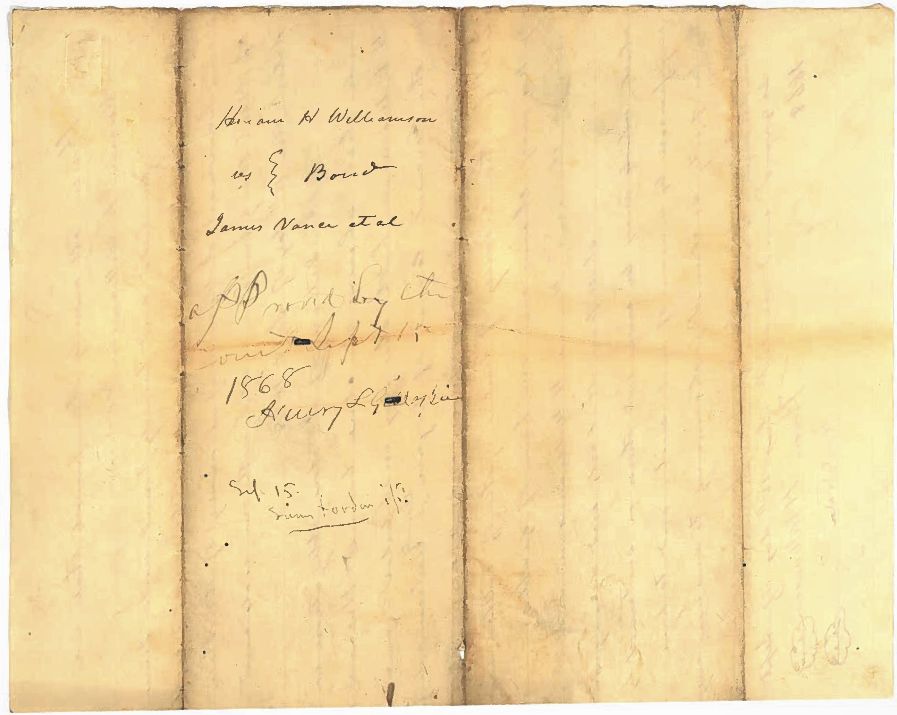 Anderson Hatfield and James Vance Document 1868 2