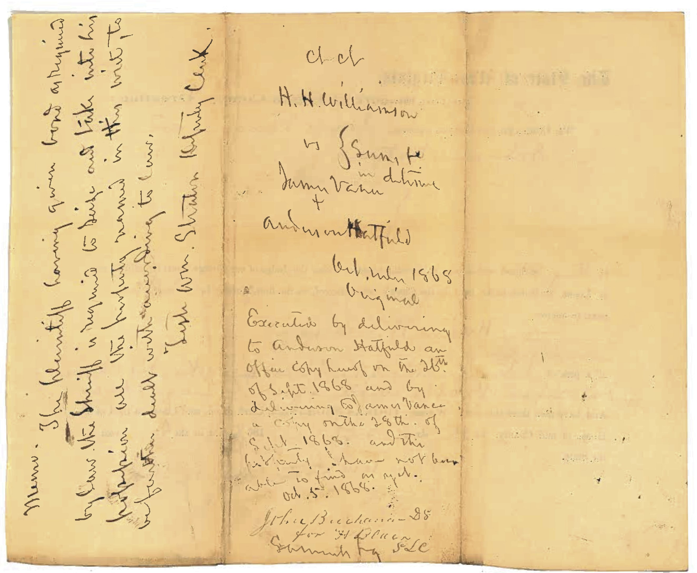 Anderson Hatfield and James Vance Document 1868 4