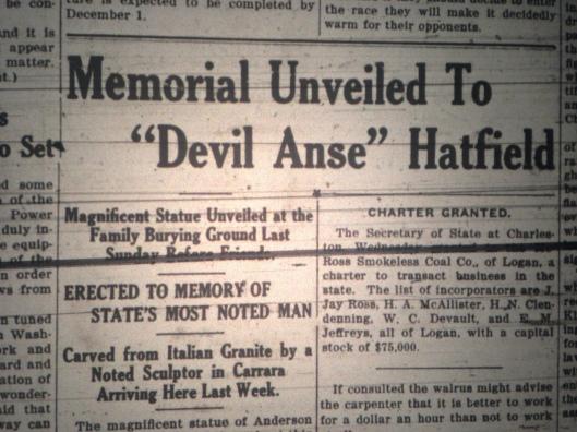Anse Hatfield Statue LB 04.14.1922 1.JPG