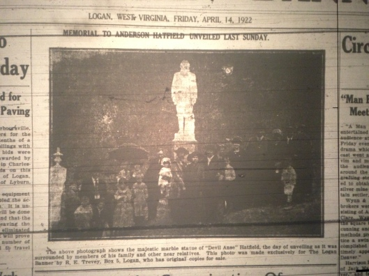 Anse Hatfield Statue LB 04.14.1922 5