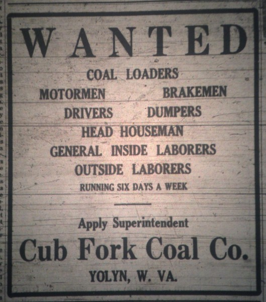 Cub Fork Coal Company at Yolyn Ad LB 06.08.1923.JPG