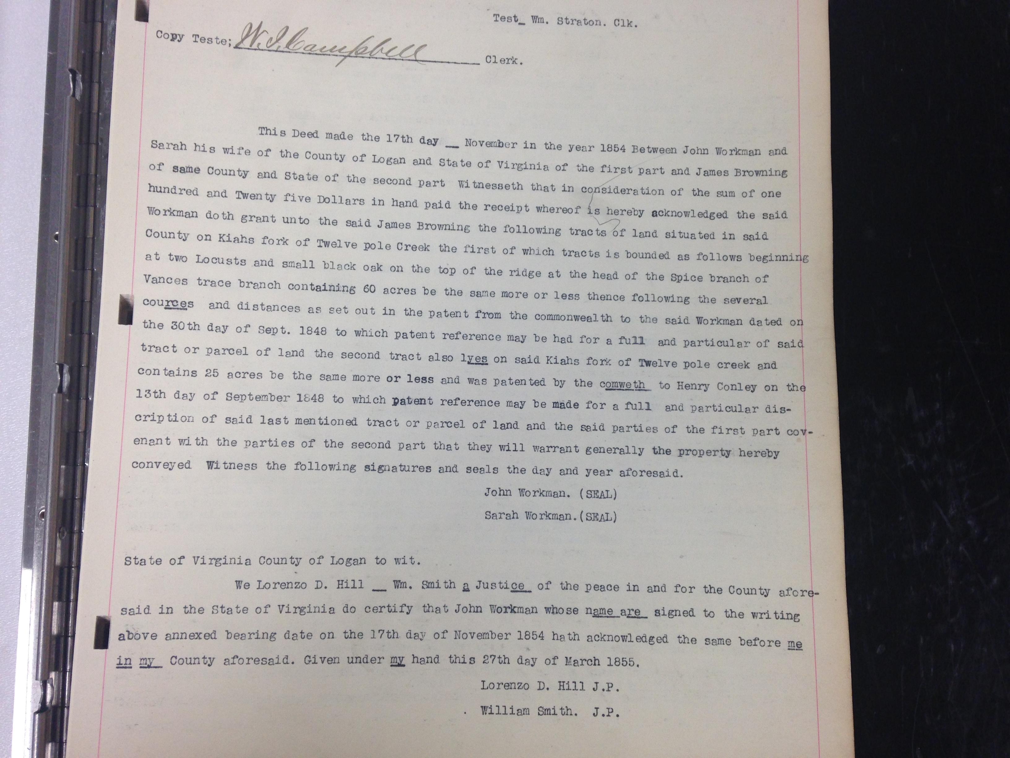 John Workman to James Browning Deed 1.JPG