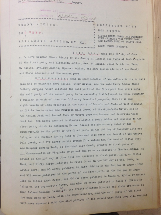 Henry Adkins to Elizabeth Adkins 2