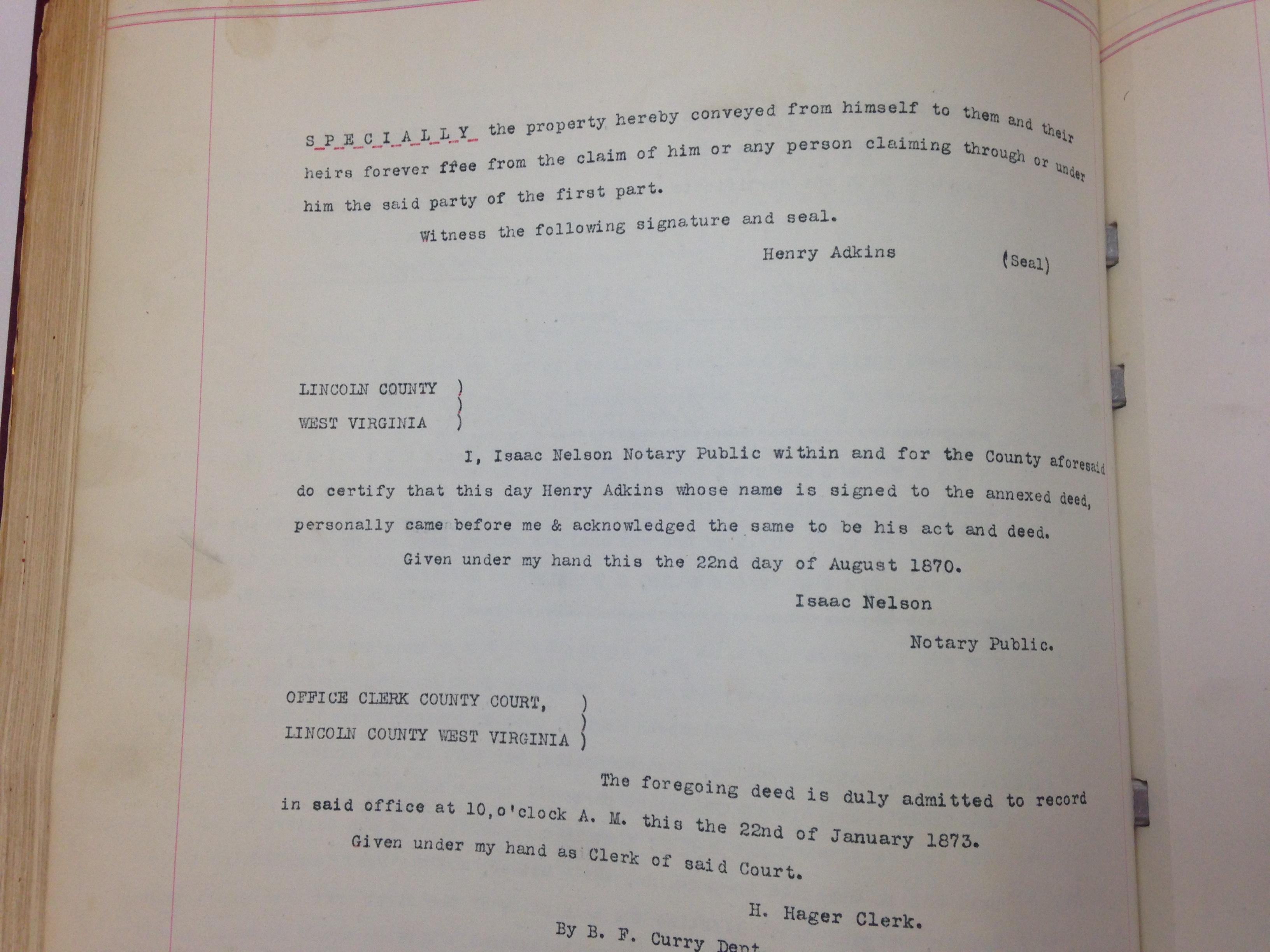 Henry Adkins to Elizabeth Adkins 3