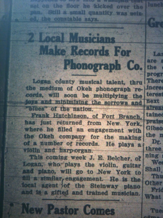 Two Local Musicians Record LB 02.01.1927 1