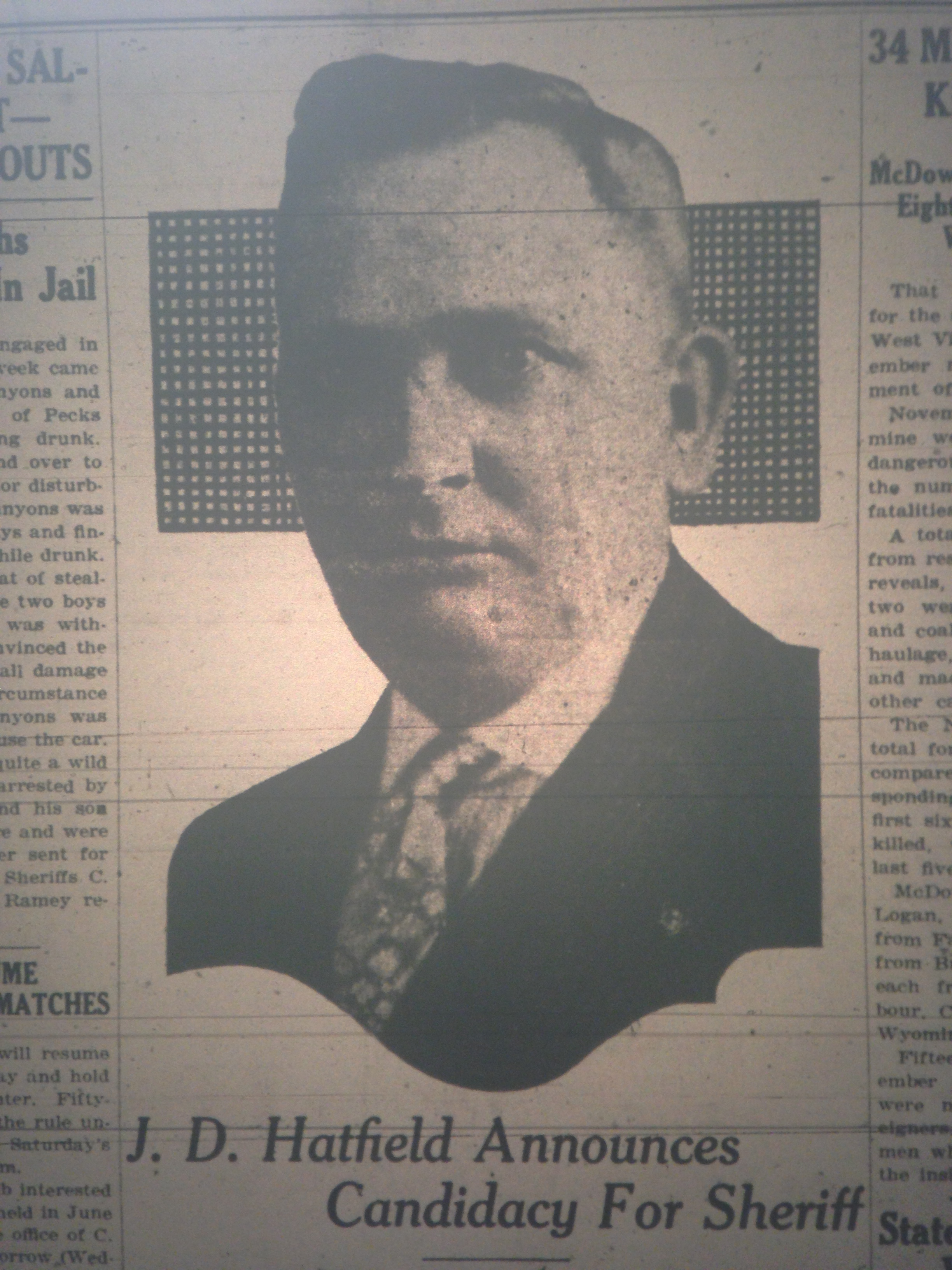 J.D. Hatfield for Sheriff 12.13.1927 1