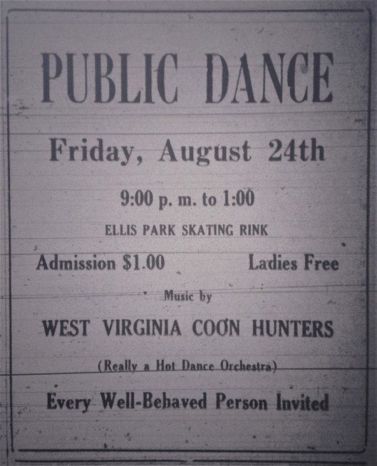 Public Dance at Ellis Park LB 08.24.1928